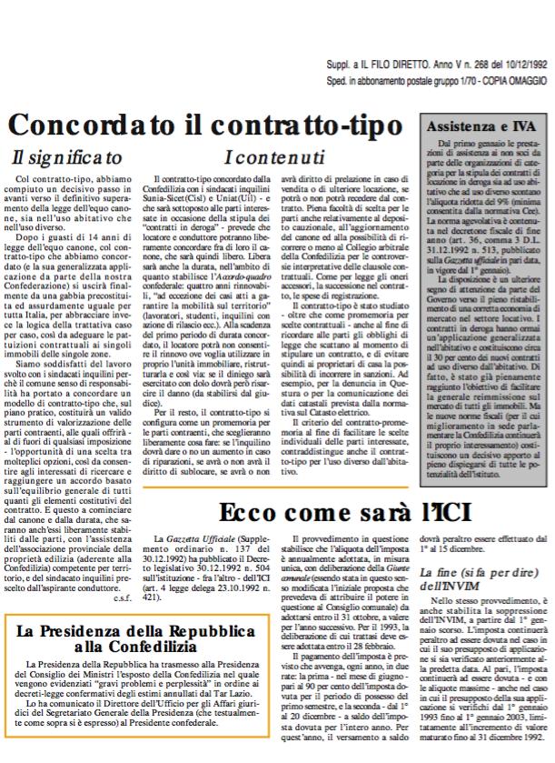 Confedilizia Notizie – Gennaio 1993