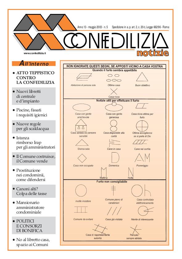 Confedilizia notizie – Maggio 2003