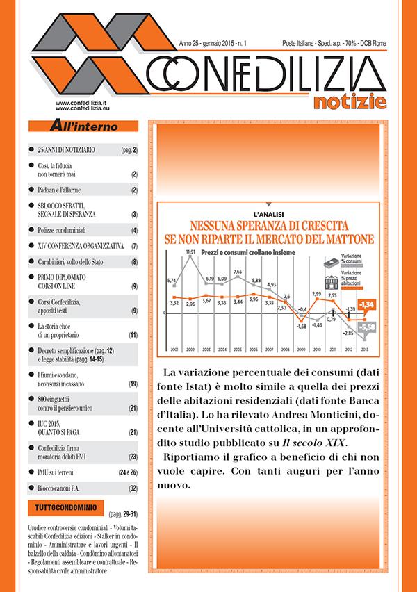 Confedilizia Notizie - Gennaio 2015