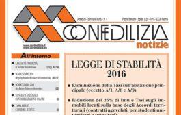 Confedilizia notizie – Gennaio 2016