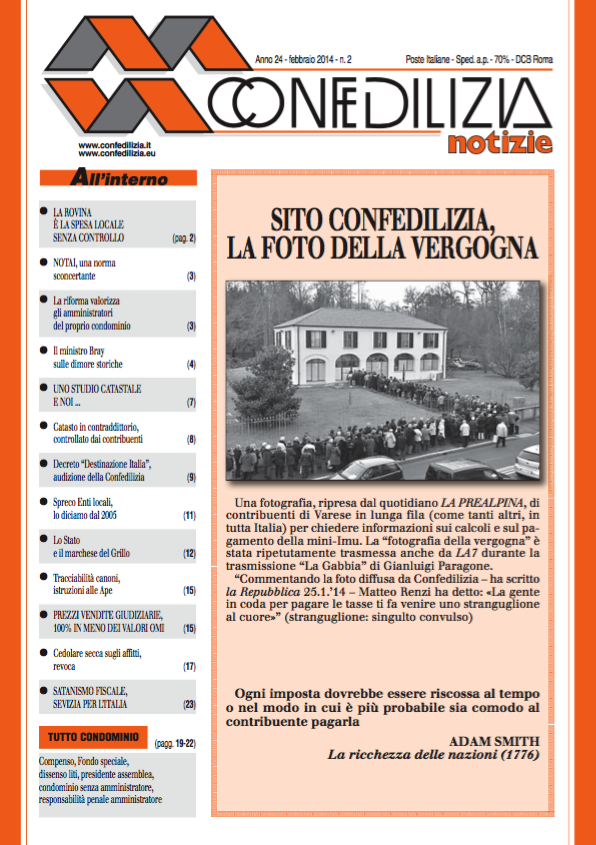 Confedilizia notizie – Febbraio 2014