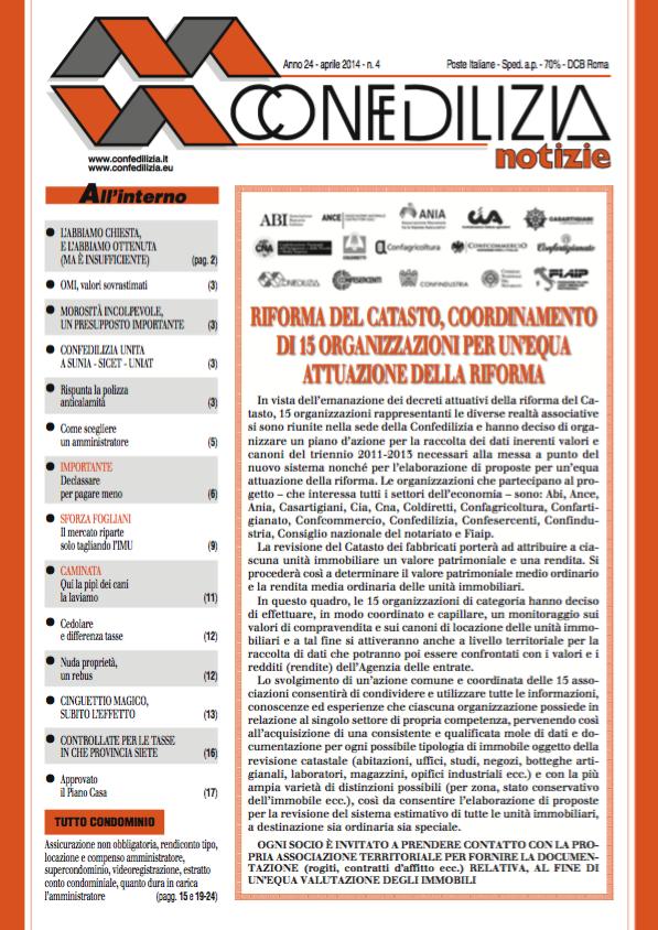 Confedilizia notizie – Aprile 2014