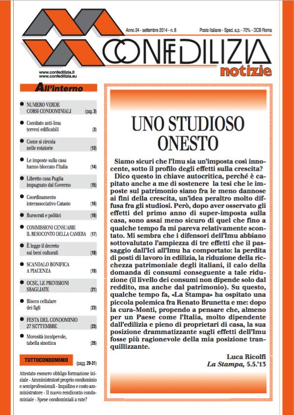 Confedilizia notizie – Settembre 2014