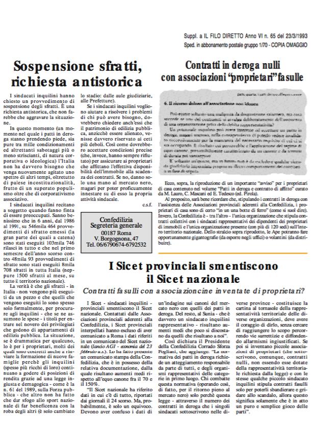 Confedilizia notizie – Marzo 1993