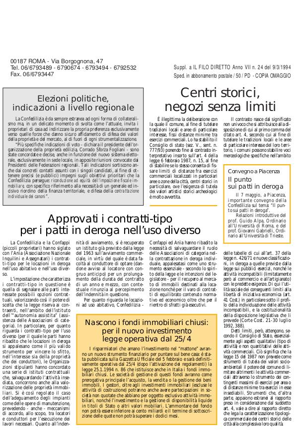 Confedilizia notizie – Marzo 1994