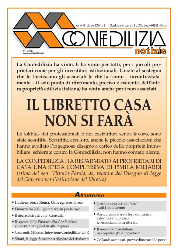 Confedilizia notizie – Ottobre 2000