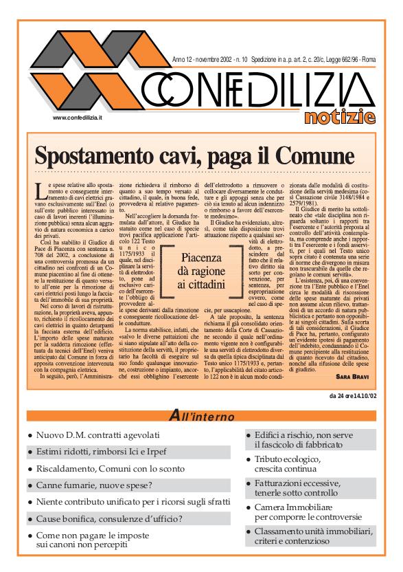 Confedilizia notizie – Novembre 2002