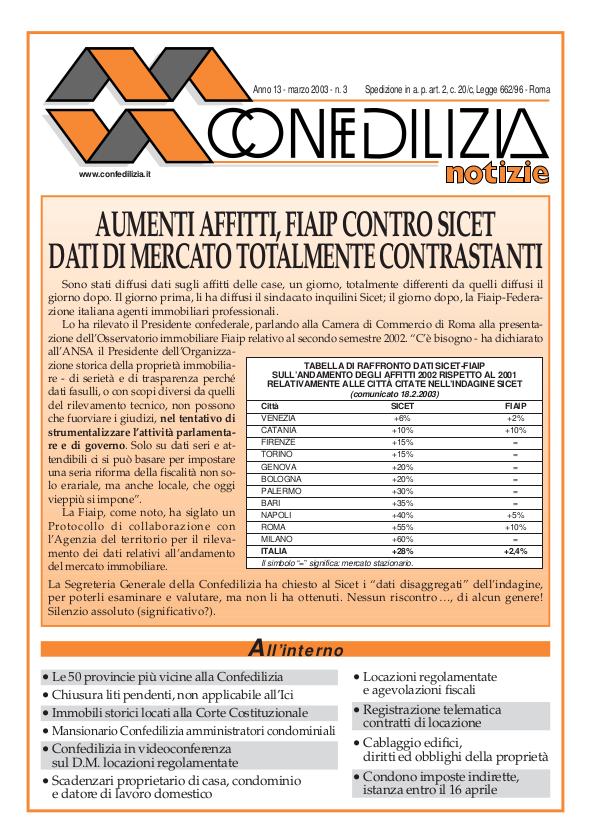 Confedilizia notizie – Marzo 2003