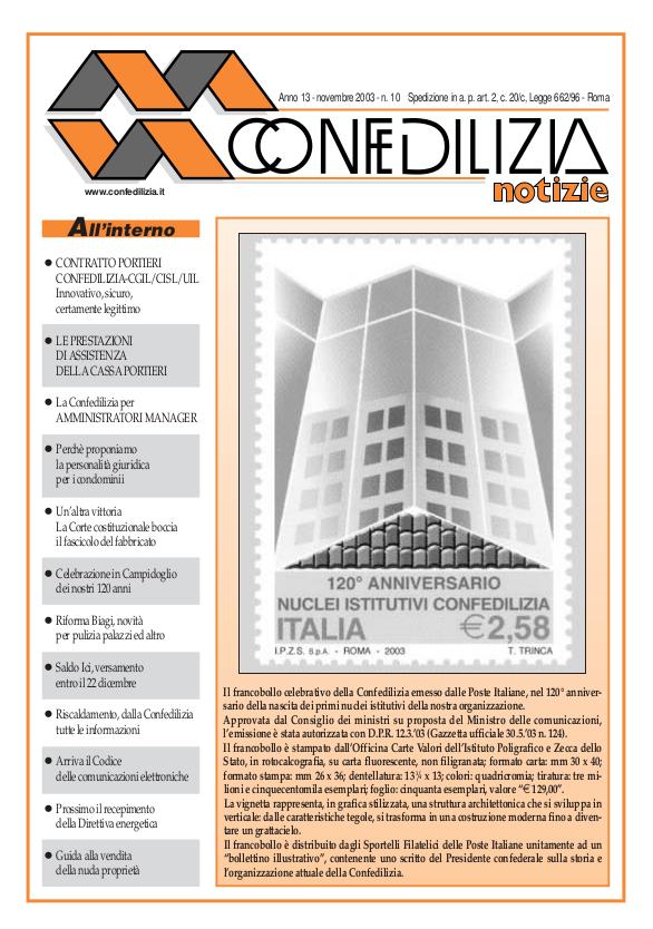 Confedilizia notizie – Novembre 2003