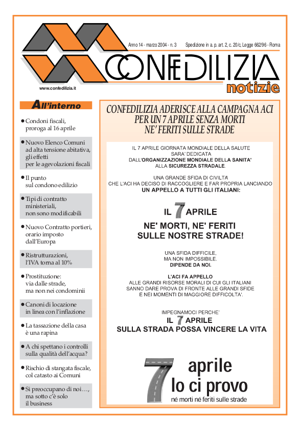 Confedilizia notizie – Marzo 2004