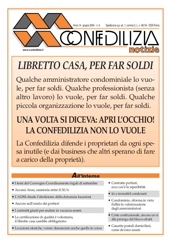 Confedilizia notizie – Giugno 2004