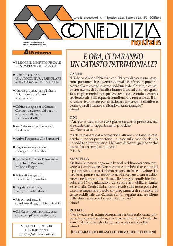 Confedilizia notizie – Dicembre 2006