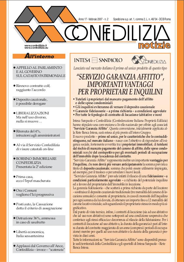 Confedilizia notizie – Febbraio 2007