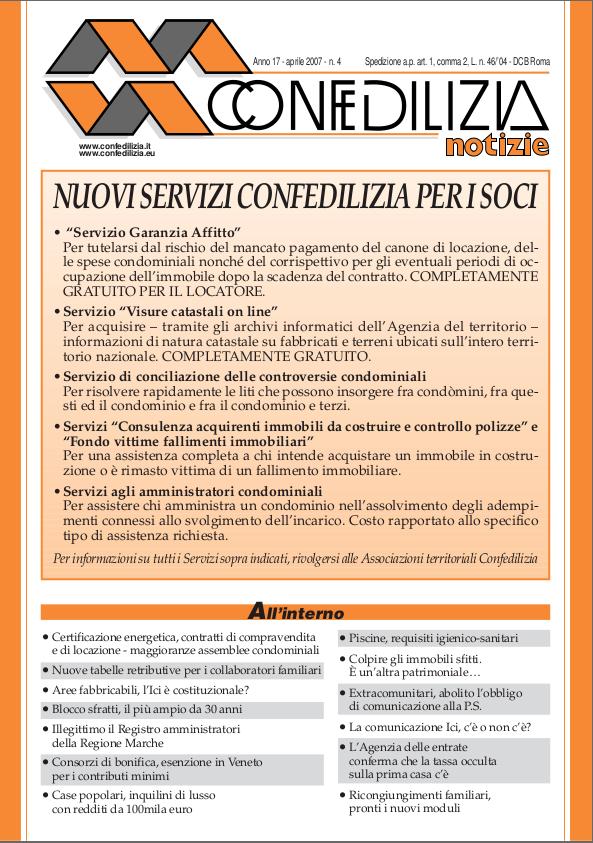 Confedilizia notizie – Aprile 2007