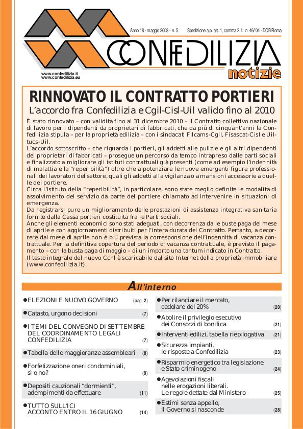 Confedilizia notizie – Maggio 2008