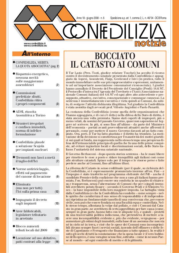 Confedilizia notizie – Giugno 2008