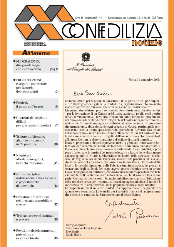 Confedilizia notizie – Ottobre 2008