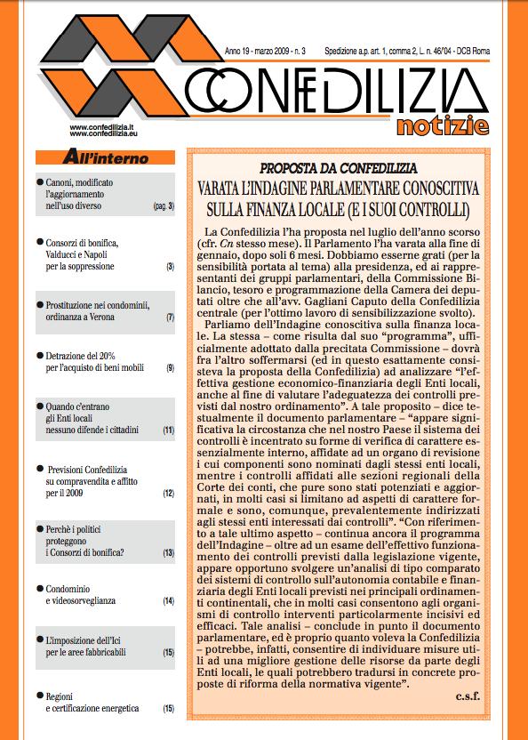 Confedilizia notizie – Marzo 2009