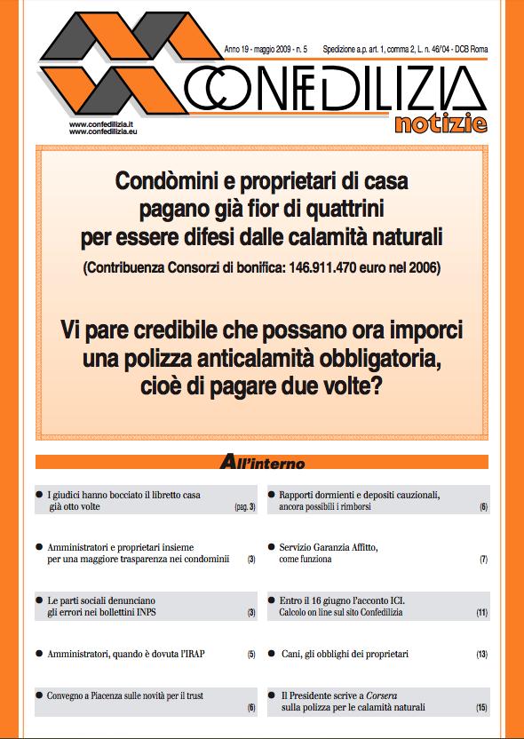 Confedilizia notizie – Maggio 2009