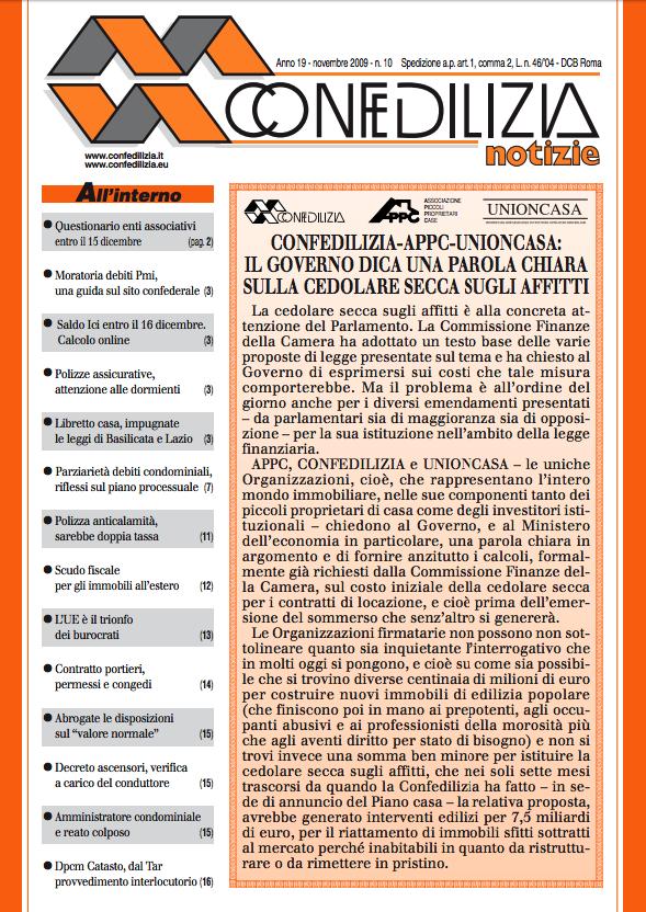 Confedilizia notizie – Novembre 2009