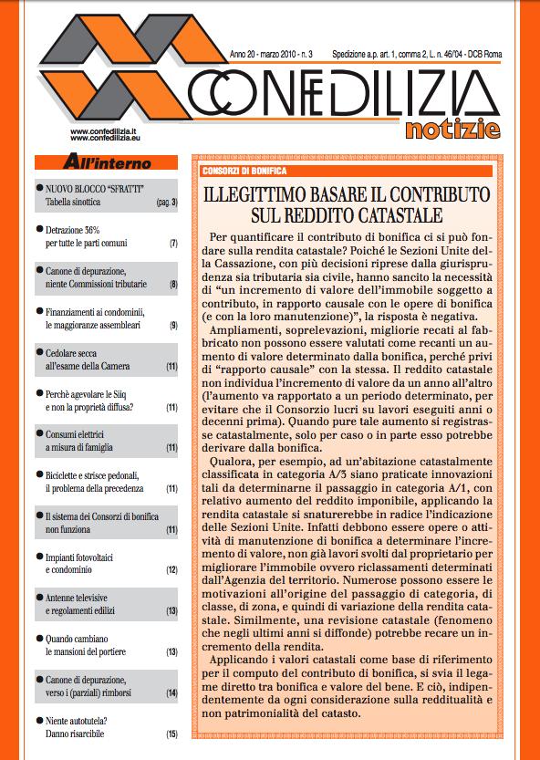 Confedilizia notizie – Marzo 2010