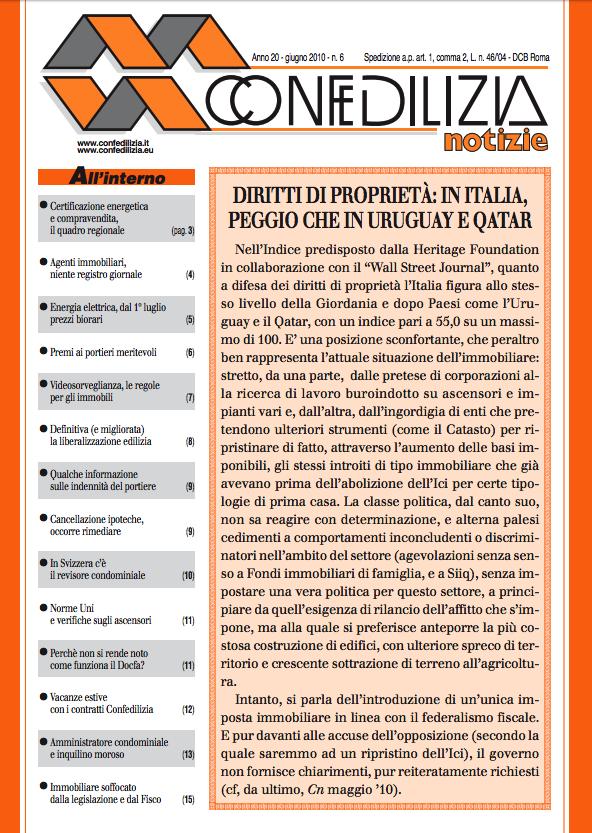 Confedilizia notizie – Giugno 2010