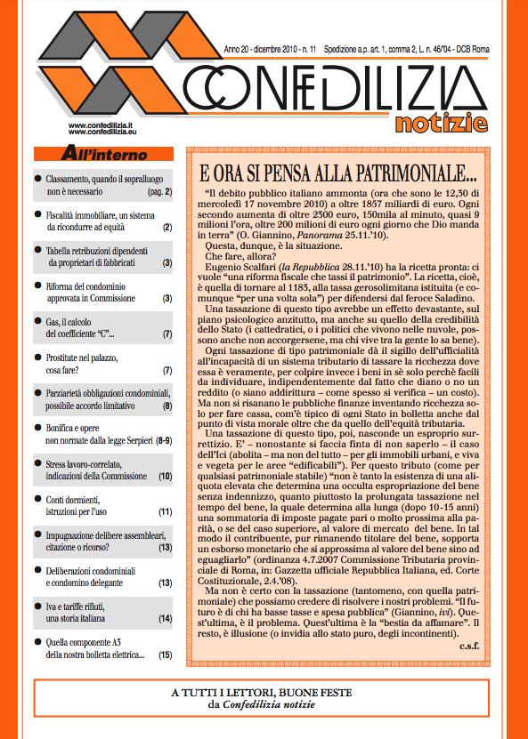 Confedilizia notizie – Dicembre 2010