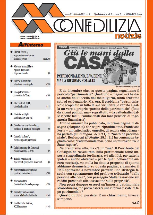 Confedilizia notizie – Febbraio 2011