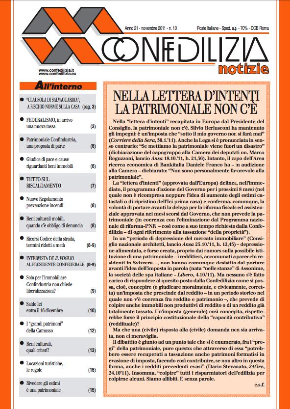 Confedilizia notizie – Novembre 2011