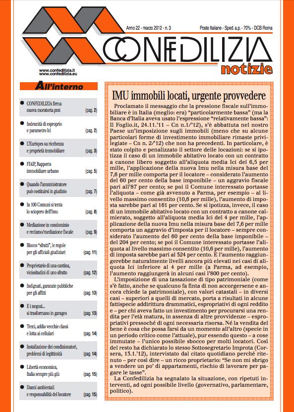 Confedilizia notizie – Marzo 2012