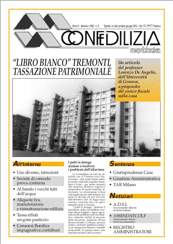 Confedilizia notizie – Febbraio 1995