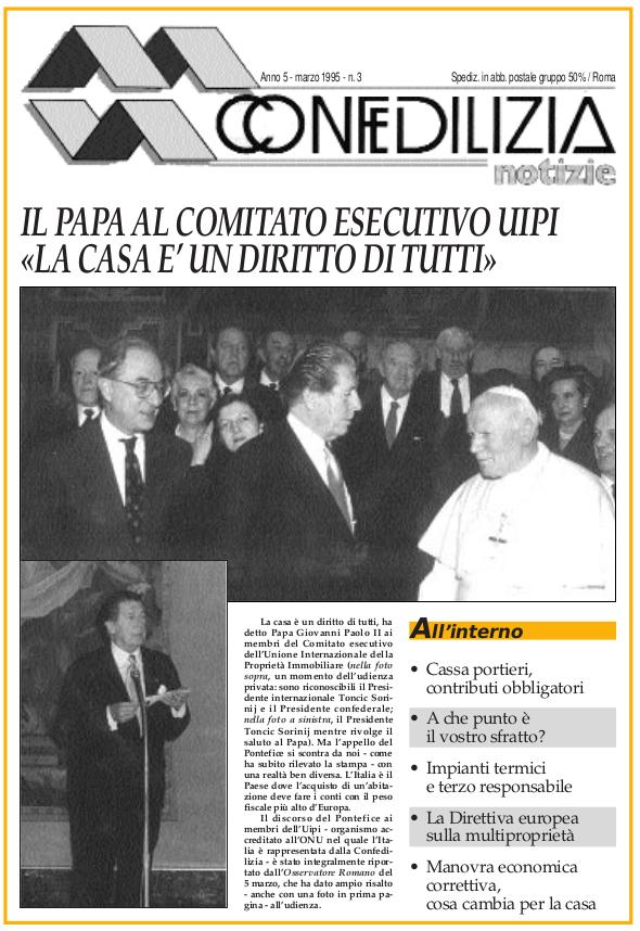 Confedilizia notizie – Marzo 1995