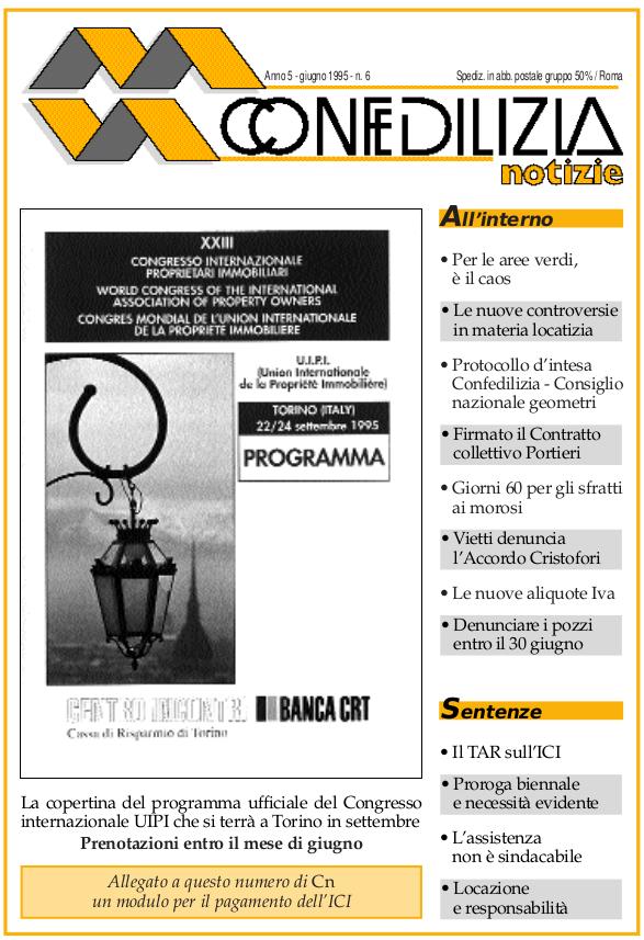 Confedilizia notizie – Giugno 1995