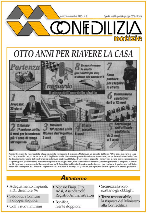 Confedilizia notizie – Novembre 1995