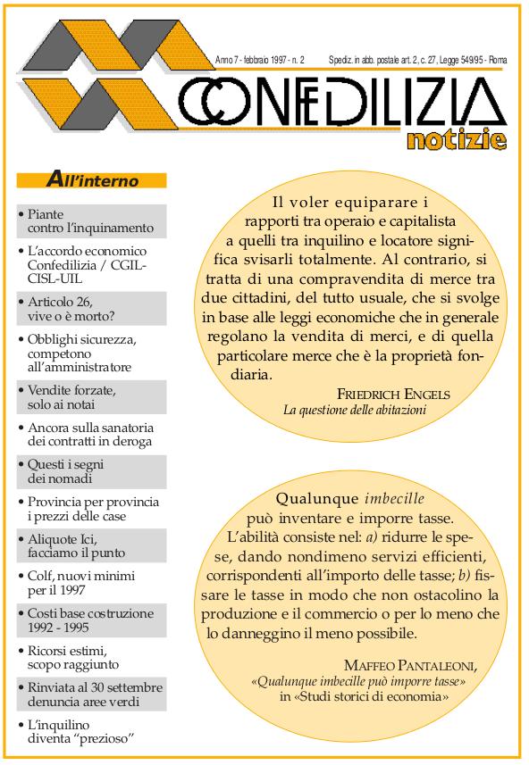 Confedilizia notizie – Febbraio 1997