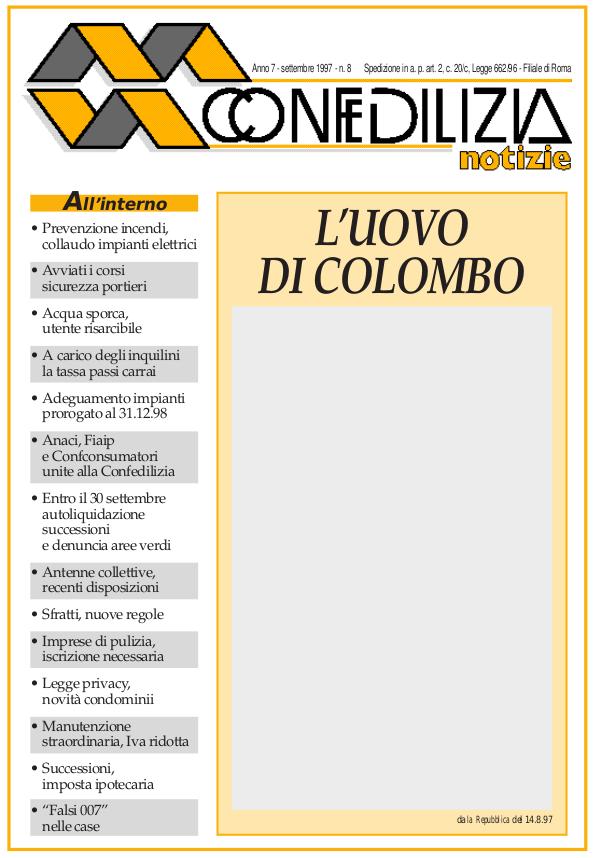 Confedilizia notizie – Settembre 1997