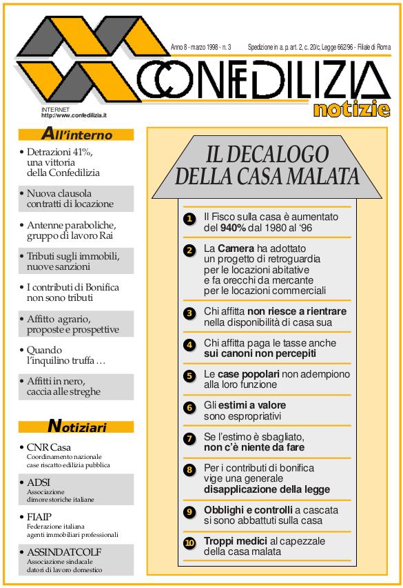 Confedilizia notizie – Marzo 1998