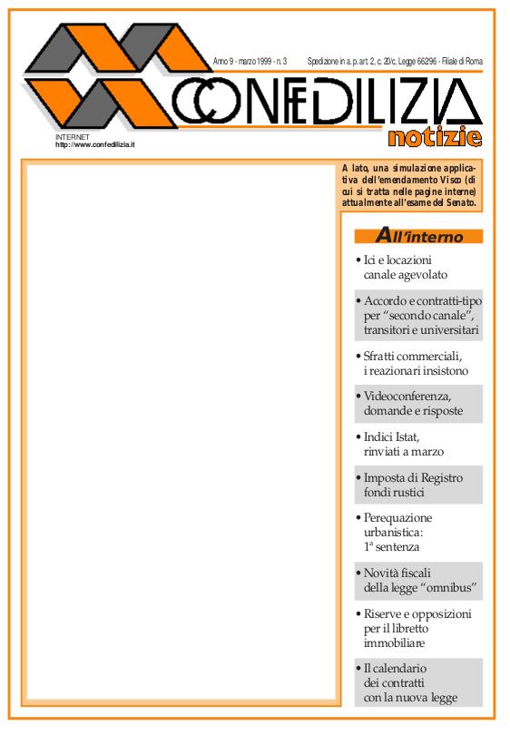 Confedilizia notizie – Marzo 1999
