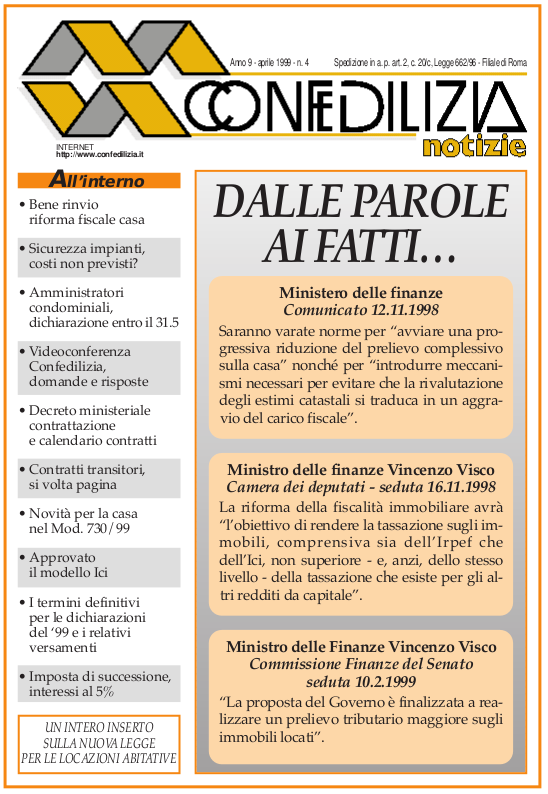 Confedilizia notizie – Aprile 1999