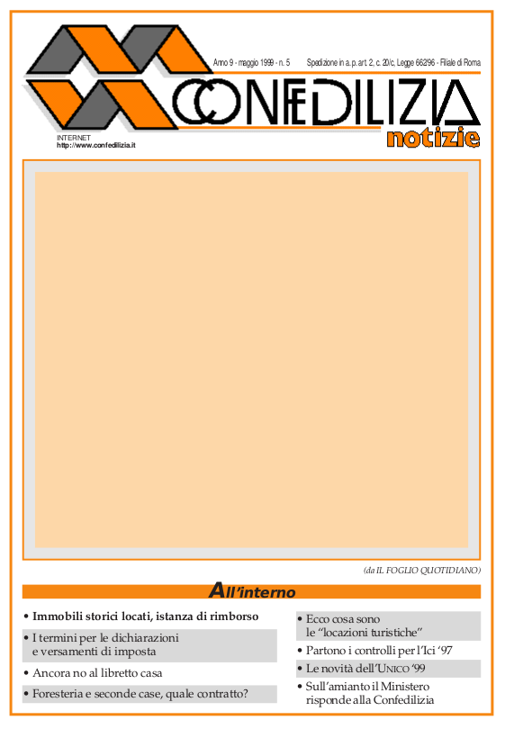 Confedilizia notizie – Maggio 1999