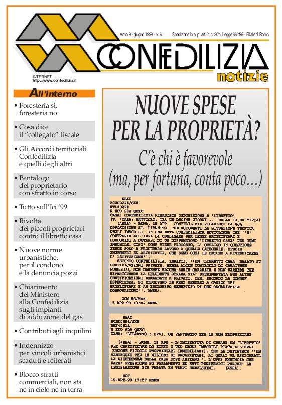 Confedilizia notizie – Giugno 1999