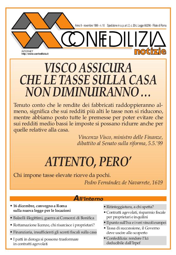 Confedilizia notizie – Novembre 1999