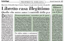 Italia Oggi – Settembre 2016