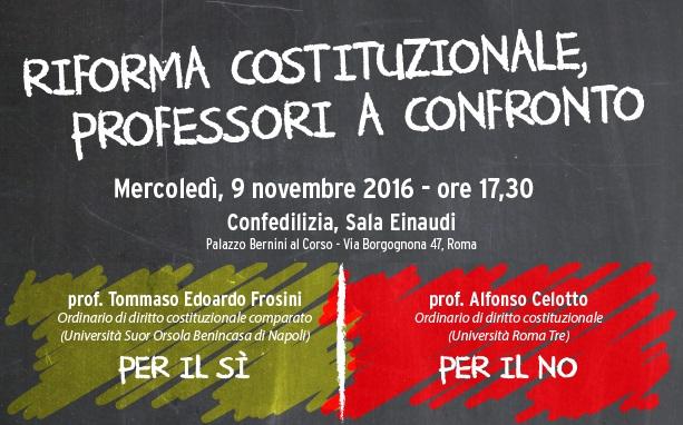 invito riforma costituzione PROFESSORI