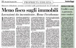 Italia Oggi – Novembre 2016
