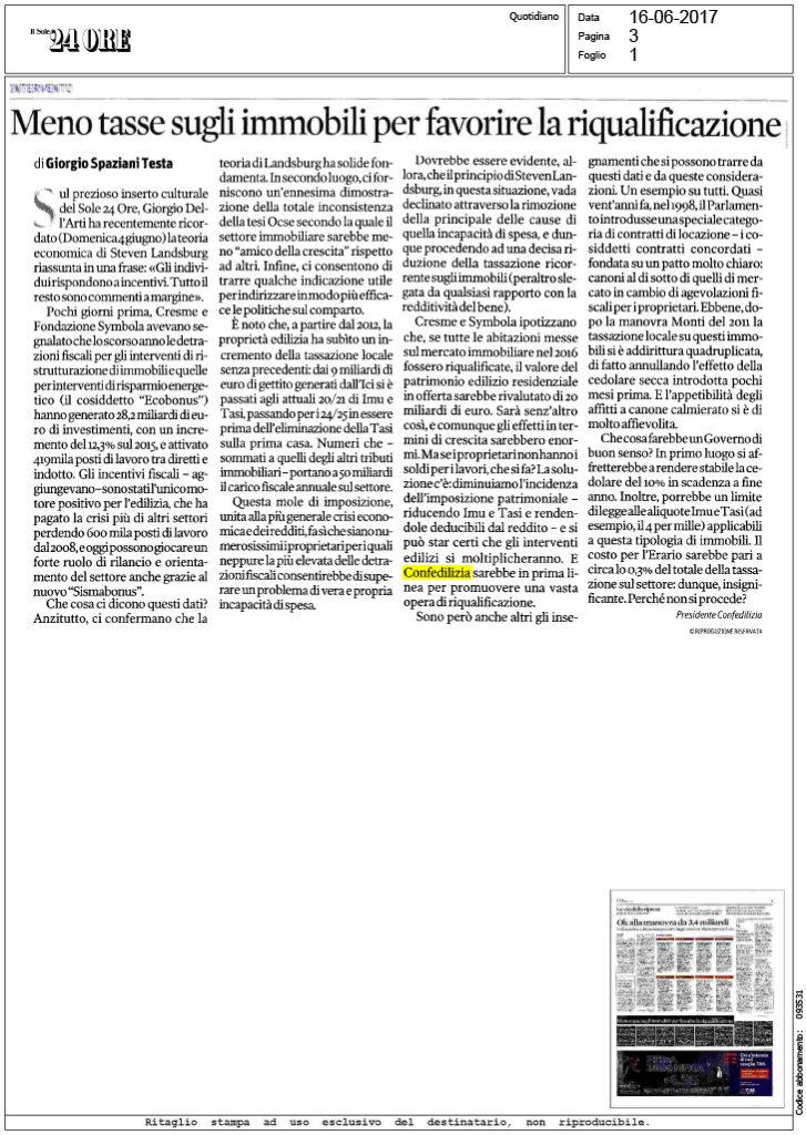 Nice Il Sole 24 Ore U2013 16.6.2017 U2013 Meno Tasse Sugli Immobili Per Favorire La  Riqualificazione