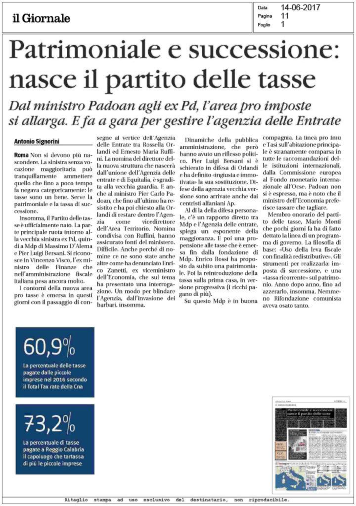 Il giornale 14 patrimoniale e successione for Successione 2017