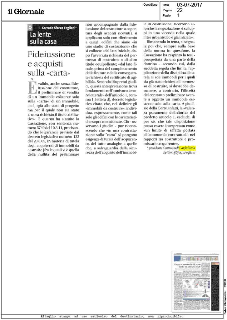 Il giornale 3 fideiussione e acquisti sulla - Fideiussione casa ...