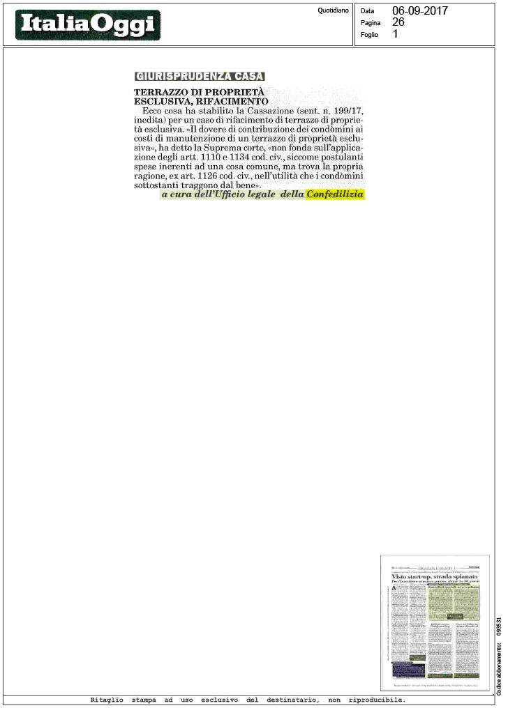 Terrazzo di proprietà esclusiva, rifacimento - Confedilizia