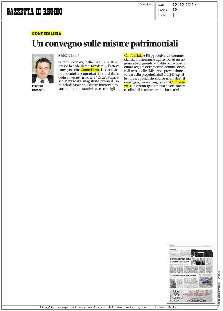 Gazzetta di reggio un convegno sulle misure - Legge sulle locazioni ...